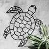 Wall Art of Geometric Sea Turtle