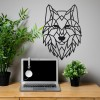 Geometric Iron Wolf Wall Art in Situ in the Office