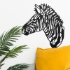 Geometric Zebra Head Wall Art in Situ in the Home
