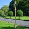 Gold Finish Victorian Lamp Post With Copper Lantern