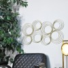 Gold Spiral Wall Art in Situ in the Home