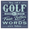 Classic Golfing Metal Sign