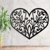Flower Foliage Heart Wall Art in Situ in the Home