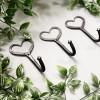 Three Iron Heart Shaped Hooks