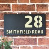 """Smithfield"" House Sign Finished in Cream"