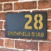 "Sand Yellow ""Smithfield"" House Sign in Situ on the Wall"