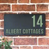 """""""Albert"""" House Sign Finished in Pale Green"""