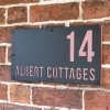 """""""Albert"""" House Sign Finished in Light Pink"""