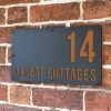 """Albert"" House Sign Finished in Orange Brown"