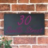 """""""Saville"""" House Sign Finished in Purple"""