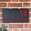 """Albert"" House Sign Finished in Signal Red"