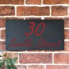 """""""Saville"""" House Sign Finished in a Signal Red"""