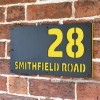"Zinc Yellow ""Smithfield"" House Sign in Situ on the Wall"