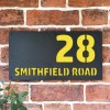 """Smithfield"" House Sign Finished in a Zinc Yellow"