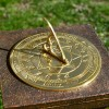 Polished brass compass point sundial