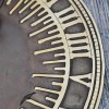 Close up of roman numerals on sundial