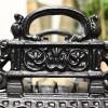 Detailed image of cast iron art deco design boot scraper
