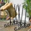 Four pair decorative ornate welly boot rack