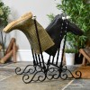 Exterior or Interior Wrought Iron Robust 4 pair Boot rack