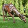 Drinking Giraffe Garden Sculpture in full