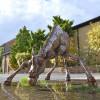 Drinking Giraffe Garden Sculpture