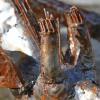 Close up of metal horns