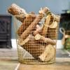 Brass Plated Log Basket in Situ