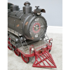 Vintage Steam Train Ornament with Front Facing Clock