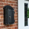 Wall mounted post box by front door