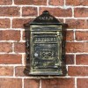 Wall Mounted Letter box with ornate detailing