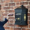 Bantock post box mounted on wall