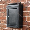Tudor Rose Post Box Finished in All Black