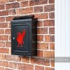 "Red ""Liver Bird"" Design Post Box Created from Iron"