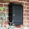 Simplistic post box on house wall