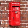 'Original Reproduction' Red Elizabeth Regina Slim Post Box