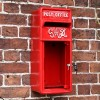 Redford Keep King George Post Box with Door Open