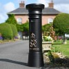 """Onyx Jewel"" GR Post Box Finished in Black with Gold Text"