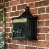Wall Mounted Huntingdon Post Box finished in Black