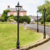 Harrogate Garden Lamp Post Set In Black