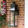 Slim Line Black Contemporary Porch Wall Lantern