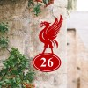 Bespoke Liver Bird Iron House Number Sign in Situ