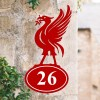 Liver Bird House Number Sign Created Out of Iron