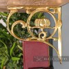 "Side View of the ""Lotus Flower"" Brass Shelf Bracket"