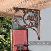 "Natural Iron ""Lotus Flower"" Shelf Bracket"