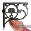 "Black ""Lotus Flower"" Shelf Bracket"