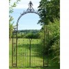 """Manor Estates"" Traditional Rose Arch Gates Finished in a Rustic Finish"