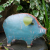 """""""Marnford Estate"""" Pig Sculpture Crated out of Recycled Metal"""