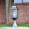 """""""Marsden"""" Silver Leaded Glass Pillar Light in Use on a Driveway"""
