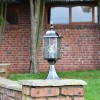"""Marsden"" Silver Leaded Glass Pillar Light in Situ on a Brick Pillar"