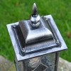 """Traditional Finial on the Top of the """"Marsden"""" Silver Leaded Glass Pillar Light"""
